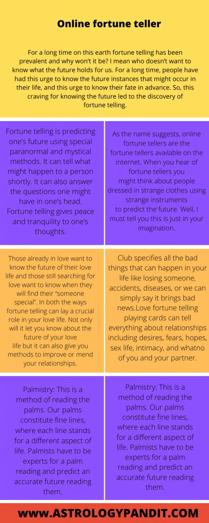 Fortune telling online